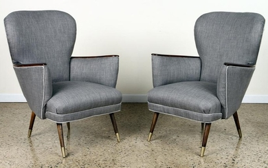 PAIR MID CENTURY MODERN OCCASIONAL CHAIRS C.1950