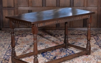 An oak side table, circa 1680 and later