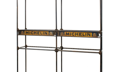 A rare Michelin tyre rack, 1920s,
