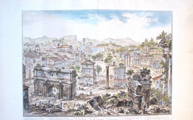 Piranesi, Giovanni: THE FORUM ROMANUM, OR CAMPO VACCINO, FROM THE CAPITOL, Year 1757