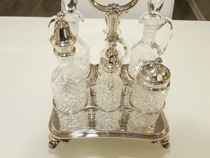 Cruet stand, Salt and pepper shakers, cruet - .800 silver, .925 silver - non so - Italy - 21st century