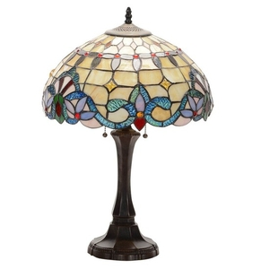 Tiffany Style Lamp Stained Glass Table