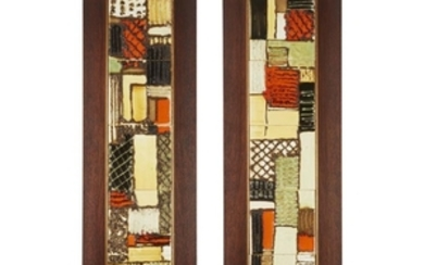 A pair of Harris Strong tiled panels circa 1960s...