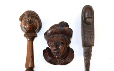 A German Treen Nutcracker, late 19th century, in the form...