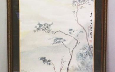 A GOOD LATE 20TH CENTURY CHINESE PAINTING ON PAPER DENG