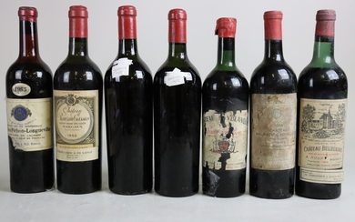 Mixed Lot Bordeaux 1955/believed 1955