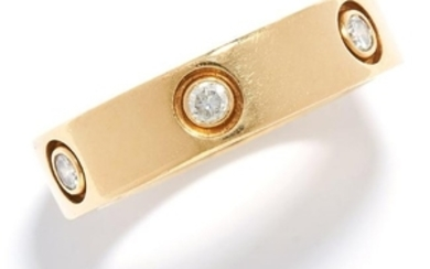DIAMOND LOVE RING, CARTIER in 18ct yellow gold, set