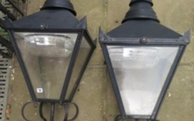 A pair of Victorian style post lanterns - 117cm H