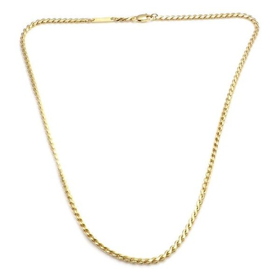 AUTHENTIC.CARTIER 14K Yellow Gold St