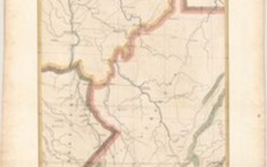 """""""Sketch of the Country Embracing Several Routes from Portsmouth Ohio, to Linville, N.C and Exhibiting the Relative Positions of the Contemplated Road..."""", U.S. Corps of Engineers"""