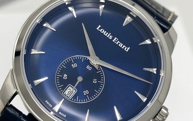 "Louis Erard - Heritage Collection Watch Small Seconds Blue Dial and Strap - 16930AA05.BEP102 ""NO RESERVE PRICE"" - Men - Brand New"