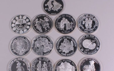 World - Collection various coins (1997) 'Ibero American Series' (13 different)- Silver