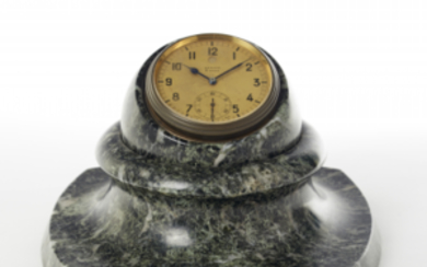 ZENITH Desk clock with marble base 1930s Weekly wind...