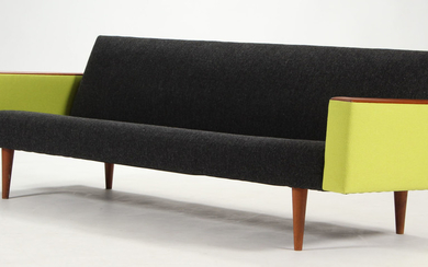 Illum Wikkelsø. Three-seater sofa, Model 10