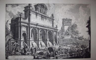 Piranesi, Giovanni: THE FONTANA DELL ACQUA PAOLA, Year 1751