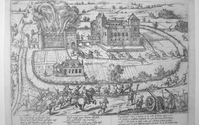 F. Hogenberg: The Siege of the Castle of Popelsdorf near Bonn, Year 1588.