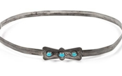 Southwestern Silver and Turquoise Hatband