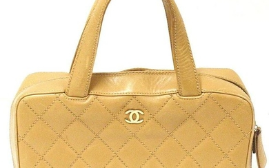 AUTHENTIC 2002-2003 CHANEL VINTAGE GOLD LAMBSKIN GOLD