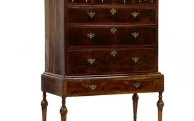 English William and Mary Chest on Frame