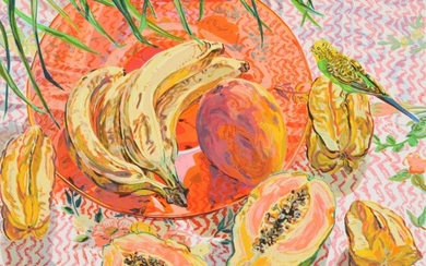 "Janet Fish ""Tropical Still Life"" Screenprint, Signed Edition - Janet Fish (b, 1938)"