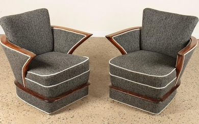 MID CENTURY MODERN UPHOLSTERED CHAIRS BY BONTA