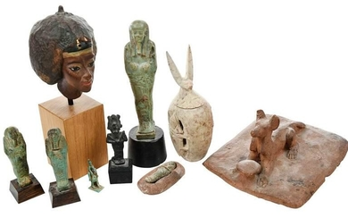 Nine Egyptian Funerary Artifacts