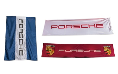 Porsche Flag and Pair of Banners