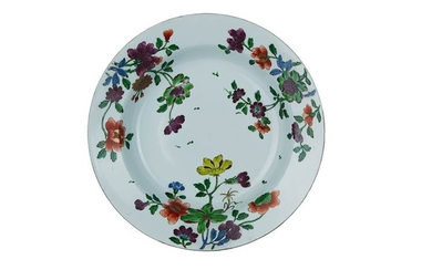 Soup plate Porcelain soup plate with converging brim, wide cavetto...