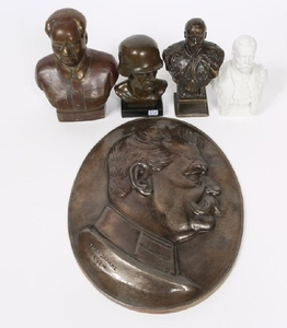 WORLD MILITARY FIGURE BUST LOT OF 5