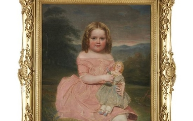 American School 19th century, Portrait of a young girl