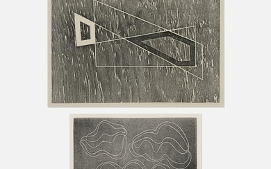 Josef Albers, Adapted and Above the Water (two works)