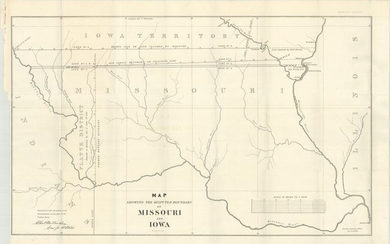 """""""Map Showing the Disputed Boundary of Missouri and Iowa"""", U.S. Government"""