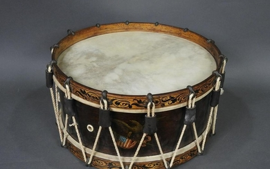 AMERICAN 19TH C MILITARY SNARE DRUM