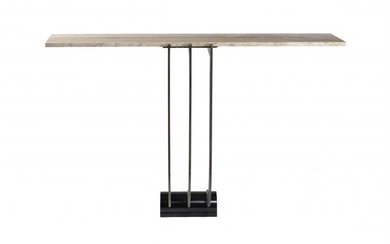 A pair of bronze console table bases
