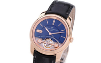 GIRARD-PERREGAUX, REF. 22500, HERITAGE 225TH ANNIVERSARY, PLACE GIRARDET, BLUE DIAL, PINK GOLD