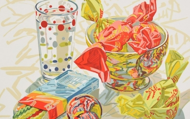 "Janet Fish ""Still Life with Candy"" Lithograph, Signed Edition - Janet Fish (b, 1938)"