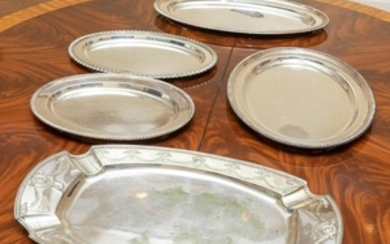Silver Plated Trays - Five