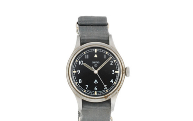 Smiths. A military stainless steel manual wind wristwatch issued to the British Army