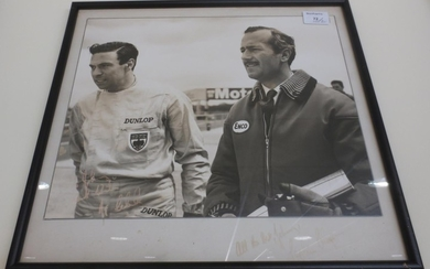 Two signed motorsport photographs,