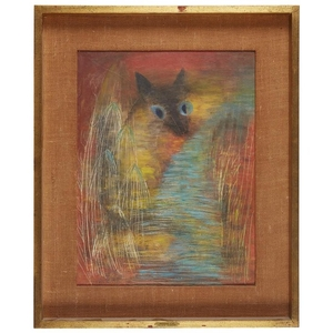 ALICE RAHON (french/mexican, 1916–1987) ANTELOPE CAT Signed and dated...