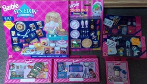 BARBIE FUN FIXIN CAKE SET *NEW*