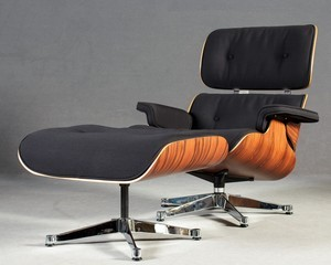 Enjoyable Lot Art Charles Ray Eames Lounge Chair Xl Ottoman By Short Links Chair Design For Home Short Linksinfo