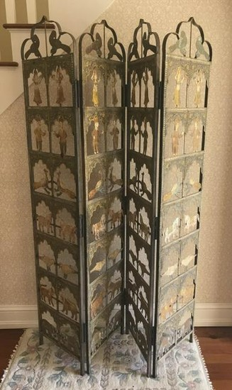 Hand Painted & Handmade Iron Room Divider Screen