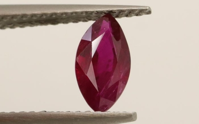 Ruby - Deep Purplish Red - 0.96 ct