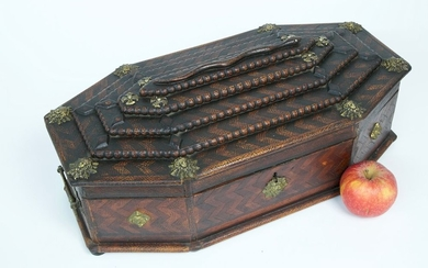 Corsica Inlaid and Brass Mounted Lady's Jewelry Box