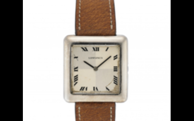LONGINES Gent's silver wristwatch 1970s Dial, movement and case...
