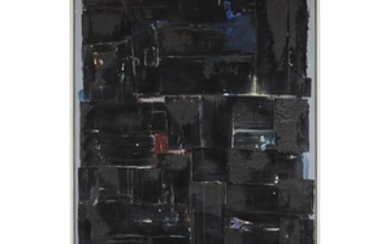 JAMES COUGHLIN (american, 1926-1979) BLACK SQUARES Signed and dated...