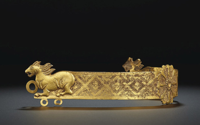 A VERY RARE GOLD HEADDRESS, 7TH-9TH CENTURY
