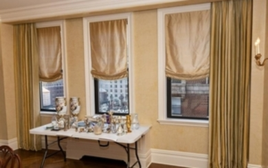 Custom Made Drape Panels & Silk Beaded Blinds