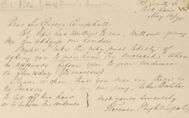 Florence Nightingale- Autograph Letter